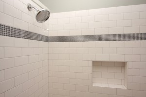 Subway Tile with Mosaic Accent