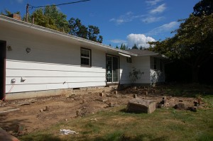 Before photo of addition exterior
