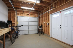 Interior view of garage construction