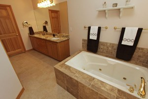 Master Bathroom with porcelain tile