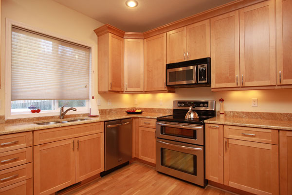 Thompson Residence Kitchen Remodel | Northwest ... on Granite Countertops With Maple Cabinets  id=87222